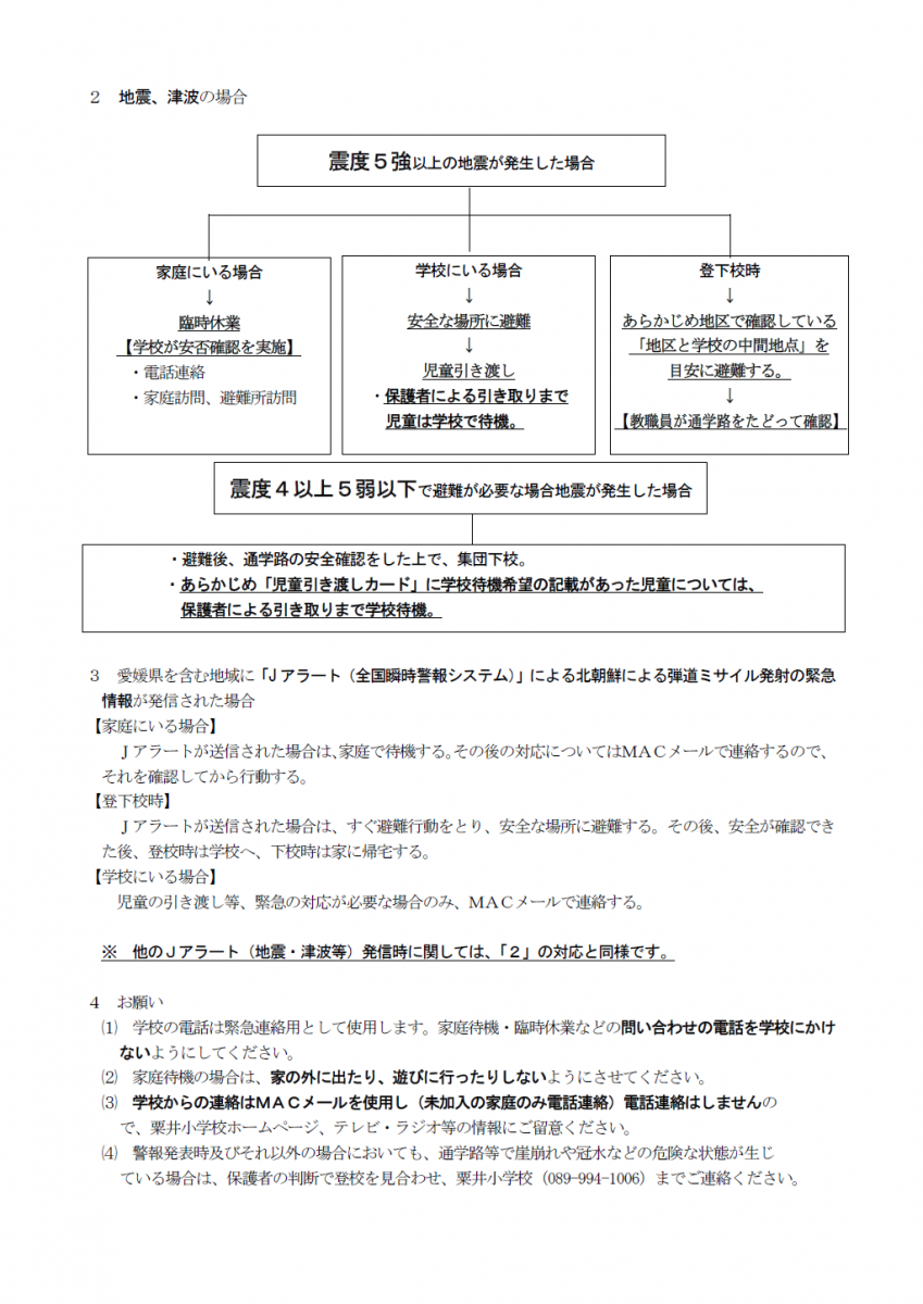 非常変災時の対応(9月改定②)